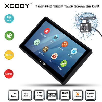 """7.0"""" HD 1080P Touch Screen Android Car DVR GPS Vehicle Rearview Camera G-sensor"""