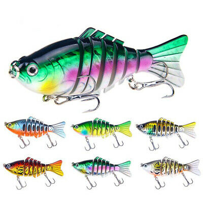 15.6g/10cm 7 Segment Multi Jointed Minnow Baits Fishing Lure Crankbaits Swimbait