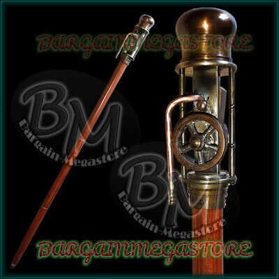 Nautical Walking Cane Stick With Working Steam Engine Model Top Classical Item