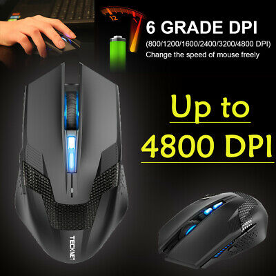80f4dca4794 Tecknet Programmable Wireless Gaming Mouse, 4800 DPI USB Optical Mice  Backlight