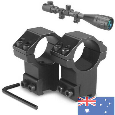 2Pcs 30mm High Profile Ring 11mm Dovetail Rail Mount Scope Mount For Hunting AU