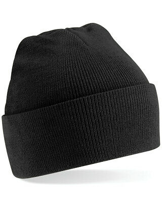 Beechfield Double-Layer Knit Beanie Mens Original Cuffed Winter Hat