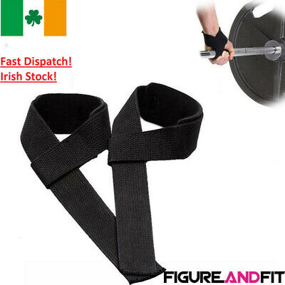 1 Pair Weight Lifting Straps Training Gym Gloves Hand Bar Wrist Support