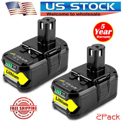 2X For P108 Ryobi 18V ONE Plus Lithium Ion Battery Pack Replaces P122 P105 P102