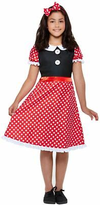 Girls Cute Mini Mouse Fancy Dress Costume Kids Book Day Outfit