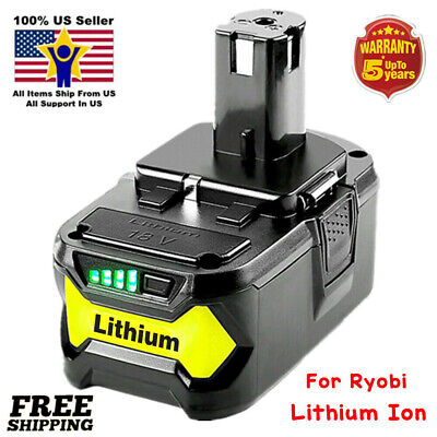 For 18V Lithium High Capacity Battery Ryobi ONE+ P102 P103 P104 P108 P105 P107