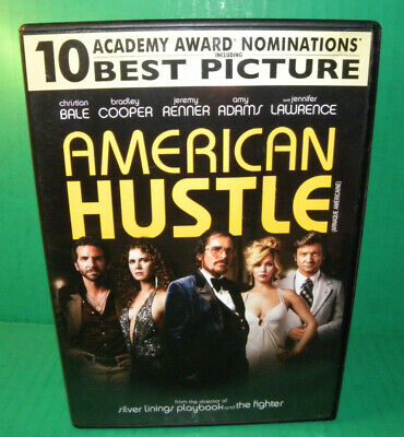 American Hustle DVD, 2014 Christian Bale, Bradley Cooper  Amy Adams, LOT 4278