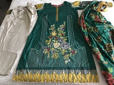 Pakistani Embrioded Designer Linen STITCHED Readymade Stiched Xl