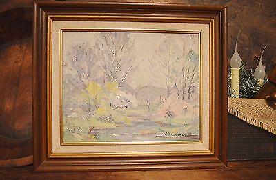 V. J. (Varaldo) Cariani O/b Painting Noted Indiana Artist Brown County Pastels