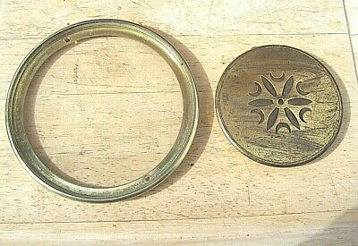 Genuine Antique French Clock Bevelled Glass and Brass Rear Door ( 3 )