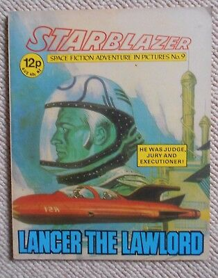 Starblazer Space Fiction Adventure In Pictures Comic No.9 1979