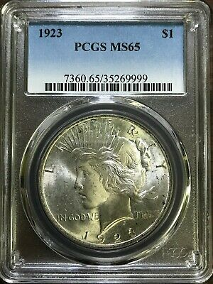1923 Peace Silver Dollar - PCGS MS65 - GEM BRILLIANT UNCIRCULATED - #999