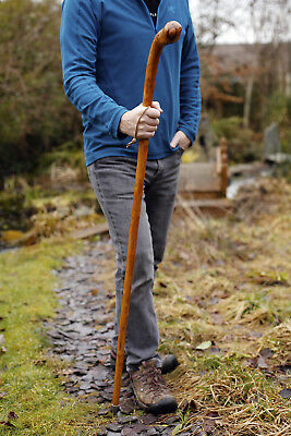 Hand Crafted Chestnut Root Wood Hiking Stick With Knob,Wooden Walking Stick.