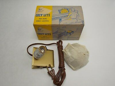 Vintage 1940'-50's  Clip On Lamp Light NOS in box COZY