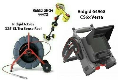 Ridgid 325' SLTS Color Reel(63583)SeekTech SR-24 Locator(44473)CS6x Versa(64968)