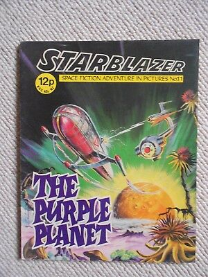 Starblazer Space Fiction Adventure In Pictures Comic No.11  1979
