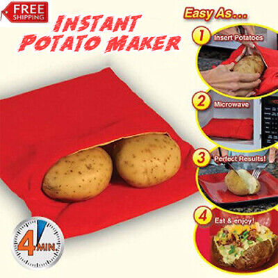 New Microwave Express Baked Potato Cooking Bag Fast Quick Washable Cooker Bag