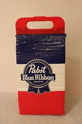 Pabst Blue Ribbon Beer Red White Blue Insulated Cooler Tote New w/o Tags