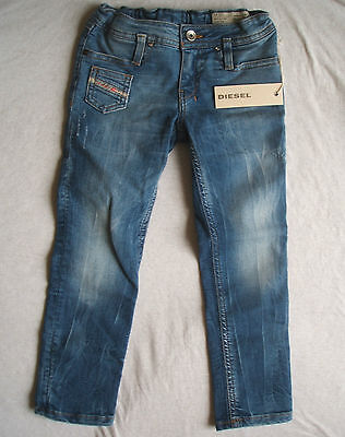 Bnwt Diesel Girls Distressed Stretch Jeans Age 4 Years Rrp 99 Euro
