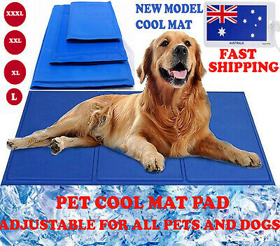 Pet Cool Gel Mat Pad Dog Cat Bed Non-Toxic Cooling Dog Summer Pad 4 Size Ice Pad