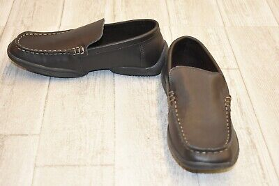 Kenneth Cole Reaction Kids Driving Dime Loafer - Big Boy's Size 6 - Brown