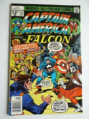 Captain America & The Falcon 217 1st Appearance Wendell Vaughan (Quasar) Marvel