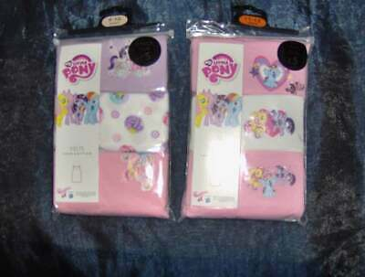 3 PACK GIRLS MY LITTLE PONY VESTS LILAC or PINK  - AGES 4/5 - 11/12 YEARS