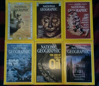 Lot of 6 Random Pick National Geographic Magazine 1970s  2010s No duplicate