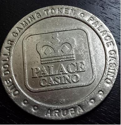 $1 Slot Token PALACE CASINO, ARUBA  DOLLAR  GAMING COIN  Rare Memento !