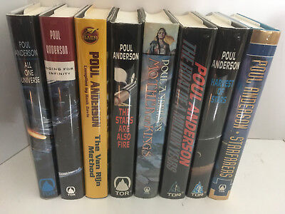Set of 8 Poul Anderson Hardcover Novels & Story Collections - ALL 1ST EDITIONS