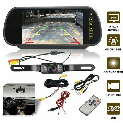 "Car Rear View Kit 7"" LED Mirror Monitor Reverse Parking IR 170° Reversing Camera"