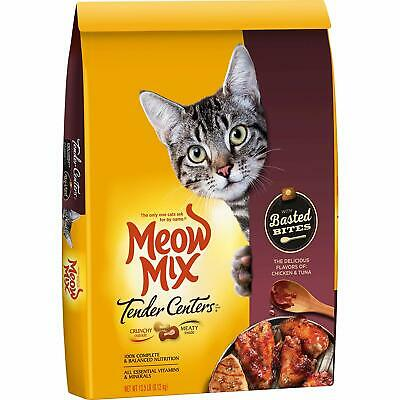 Meow Mix Tender Centers Dry Cat Food, Basted Bites - Chicken & Tuna, 13.5 lb