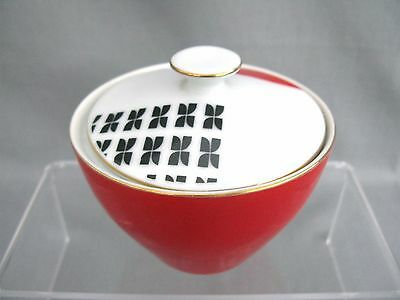 Fabulous design Sunny China Japan pot and lid - Red and black