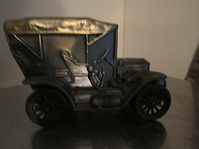 Vtg M-7579 Brass 1910 Stanley Steamer Bank And Music Box