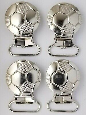 Soccer Ball Pacifier Clip, Nickel Plated Brass,  25 Pieces , Free Shipping Usa