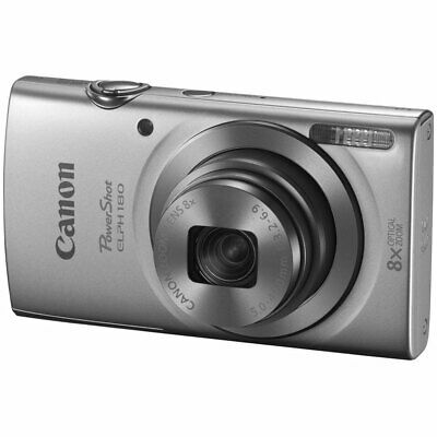 Canon PowerShot ELPH 180 Silver Camera with 20.0 MP CCD Sensor & 8x Optical Zoom