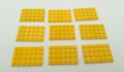 12x Yellow Lego 2 x 6 Flat Plates N935 used condition,