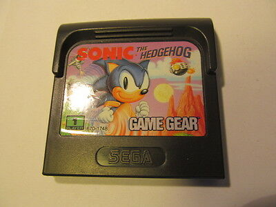 SEGA GAME GEAR Sonic The Hedgehog   (cartridge only)
