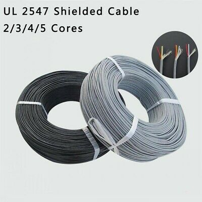 UL 2547 22/24/26/28awg Shielded Cable Audio Headphone Signal Wire 2/3/4/5 Cores