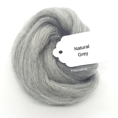 100% Merino wool 64s Natural grey 50-200g spinning needle felting roving fibre
