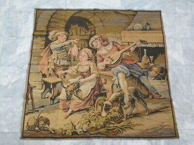 4569 - Old French / Belgium Tapestry Wall Hanging - 133 x 127 cm