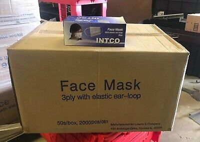 Intco Face Mask Surgical Dental Mask Universal Case Of 2000