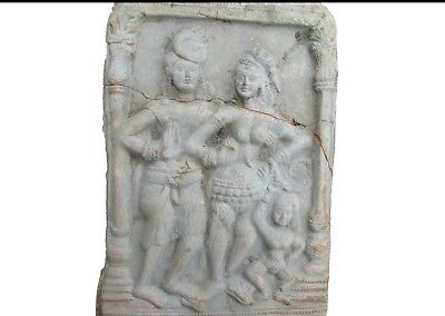 Ancient Gandharan  Terracotta Relief Panel With Pictorial Scene C200BC..300AD.