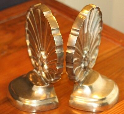 """Brass Book Ends French Plum TIC India  7"""" Tall"""
