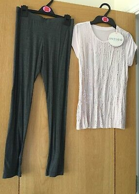 Girls Outfit Dress Tunic & Leggings From M&S  Age 9-10 Years PRICE TAG £22