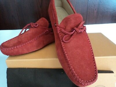 a90ce53d099 $550 NIB MADE in italy TODS mens driving shoes red suede Gommini UK 8 US 9m