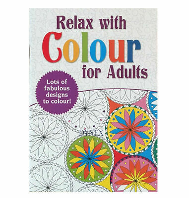 Adult Colouring Book A4 Size Colour Therapy, Stress Relief PATTERNS