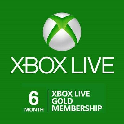 ⭐️ Instant Code ⭐️ 6 Month Xbox Live Gold Worldwide Membership Xbox One 360 ⭐️