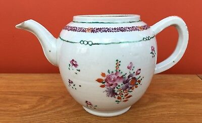 Large Antique 18th Century Qing Chinese Export Porcelain Teapot