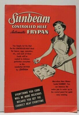 1953 Vintage Sunbeam Manual Controlled Heat Automatic Frypan